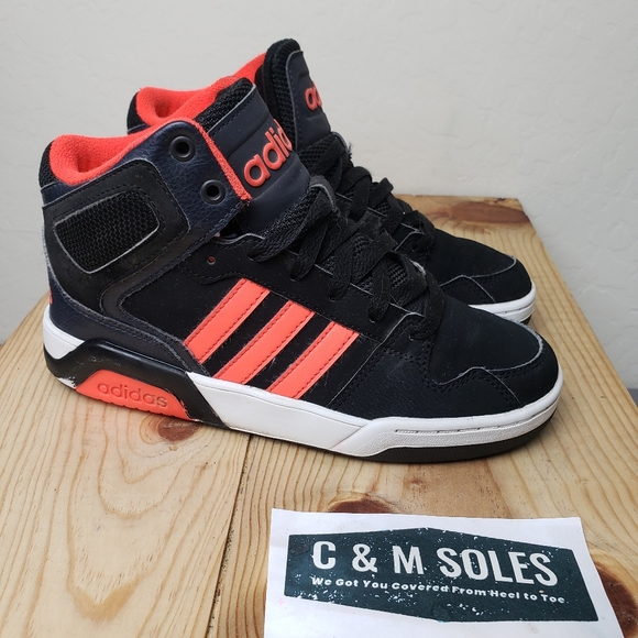 República Suavemente Excremento  adidas Shoes | Adidas Bb9tis Mid Hoops Black Orange | Poshmark